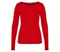 Basic Kaschmir Pullover rot