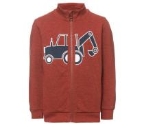 Sweatshirt mit Reißverschluss 'nitjominodan' blau / rotmeliert / weiß