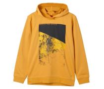 Hoodie mit Frontprint gelb