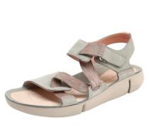Sandalen 'Tri clover' aus Leder und Textil