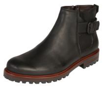 Chelsea-Boot im Vintagelook schwarz