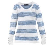 Streifenpullover hellblau / weiß
