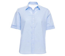 Kurzarm Bluse Comfort FIT hellblau
