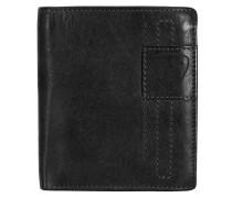 'Upminster' Geldbörse Leder 10 cm schwarz