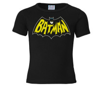 T-Shirt 'Batman - Fledermaus' schwarz