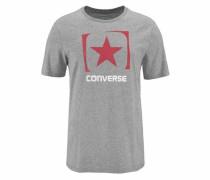 T-Shirt graumeliert / rot