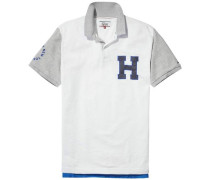 "Hilfiger Denim Poloshirt ""thdm RLX Badge Polo S/S 12"" hellgrau / weiß"