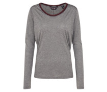 Langarmshirt 'Long sleeve tee with lurex rib details' dunkelgrau