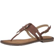 Sandale 'Schnalle' braun