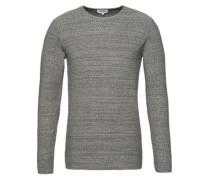 Pullover 'RH structur' graumeliert