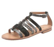 Sandale 'Donna Sozy' schwarz / silber