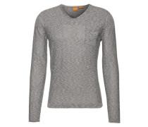 Pullover mit V-Ausschnitt 'Abramut' dunkelblau