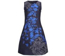 Abendkleid mit Blumenmuster blau / nachtblau / weiß