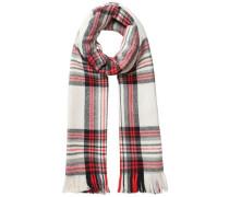 Langer gewebter Schal rot / weiß