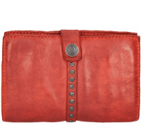 Azalea Geldbörse Leder 15 cm rot