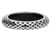 Damen Fingerring 925 Silber Silber/Schwarz Lattice Esrg91919A