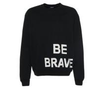 Sweatshirt mit Print 'S-Pond-Ma' schwarz