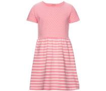 Kleid mit kurzen Ärmeln 'Fanny' rosa / weiß
