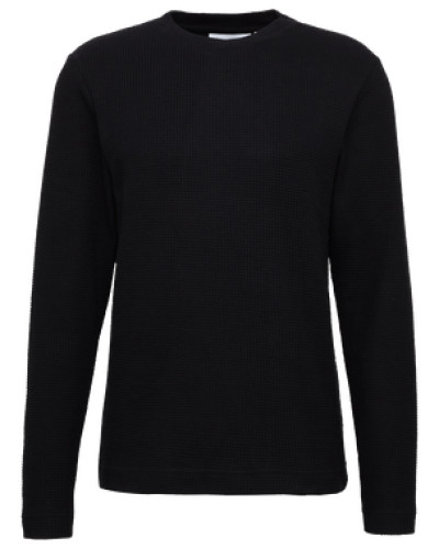 Sweatshirt 'waffle' schwarz