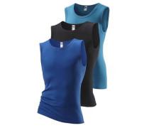 Muscleshirts (3 Stck.) blau