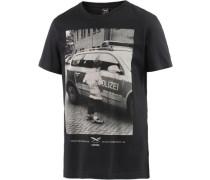 Pissizei Printshirt schwarz