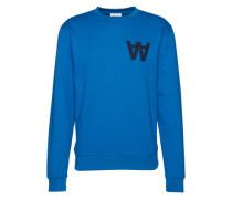 Sweatshirt mit Logo-Stickerei 'Houston' blau / schwarz