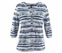 Shirt hellblau / anthrazit / weiß