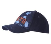 Cap mit Monster-Print rauchblau / ultramarinblau / dunkelorange