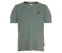 T-Shirt 'Stricherjunge' grünmeliert