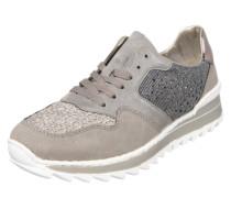 Sneaker im Glitzer-Look grau
