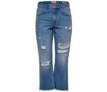 Straight Fit Jeans Kürzer geschnittene Chad HW