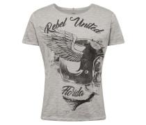 Shirt 'MT Rebels United' silber / grau