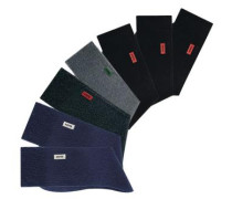 Basic-Socken (7 Paar) mit extrahohem Baumwollanteil marine / grau / schwarz
