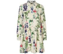 Kleid mit langen Ärmeln beige / navy / grün