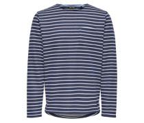 Gestreiftes Sweatshirt blau