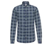 Hemd 'nestor LS Checked Denim Shirt'
