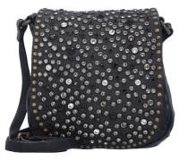 Traditional Mini Bag Umhängetasche Leder 17 cm schwarz