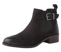 Chelsea Boots in Veloursleder 'Shallow' schwarz