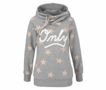 Hoodie 'awesome' graumeliert / rosa