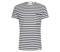 T-Shirt mit Streifen dunkelgrau / weiß