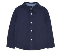 Langarmhemd nitsolid dunkelblau