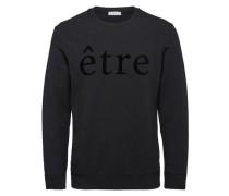 Crew Neck-Sweatshirt schwarz