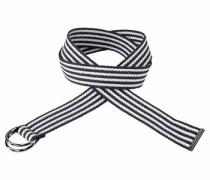 Stoffgürtel »im Streifen-Design« schwarz / weiß