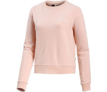 'Going My Wave' Sweatshirt Damen rosa