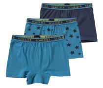 3er-Pack Hip Shorts für Jungen blau