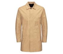 Schlichte Regen-Jacke beige