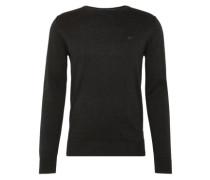 Pullover 'basic crew-neck sweater' schwarz