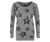 'onlRoxanne' Pullover hellgrau / schwarz