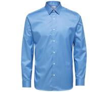 Langarmhemd Slim Fit blau