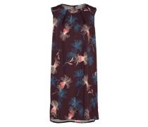 Kleid mit floraler Musterung creme / himmelblau / beere